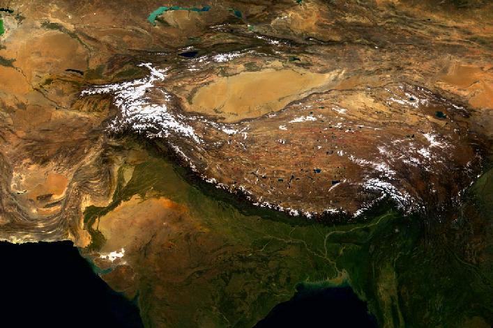 nasa himalayas from space -#main