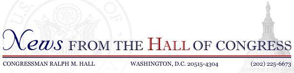 Congressman Hall Letterhead Banner