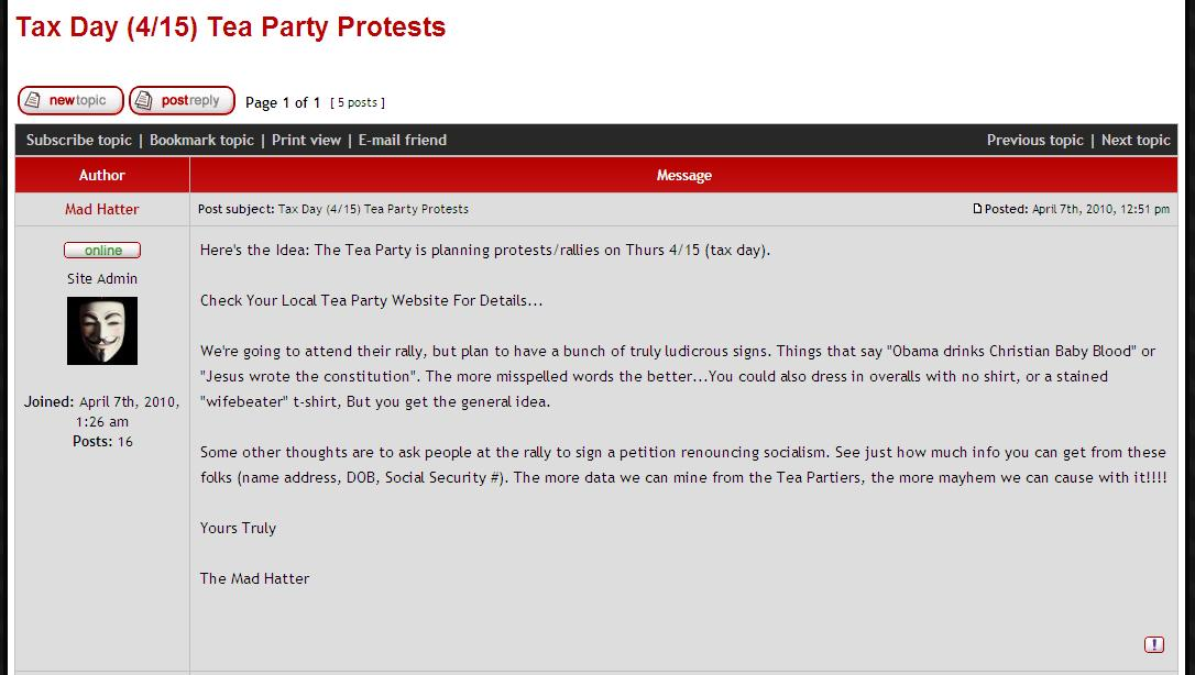 Party Crashers Strategy to Disrupt and Discredit Patriots