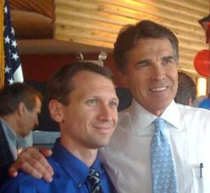 Mark Russo with Gov. Rick Perry