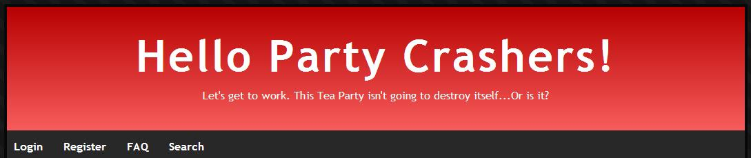 Party Crashers Banner