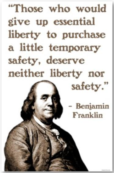 Franklin - liberty for safety