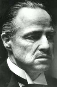 "Marlon Brando as ""The Godfather"""