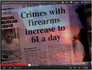 Crimes with firearms increase to 61 a day since banning private ownership of guns in England.