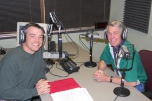 Rick Green and David Barton in the studio