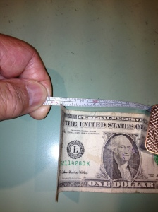 The U.S. Dollar Bill Measures .0043 Inches in Thickness