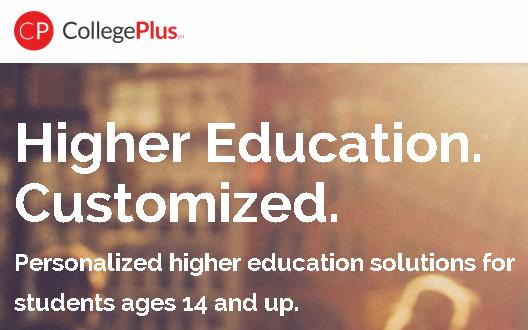 Click on the image above to learn about Personalized higher education solutions for students ages 14 and up