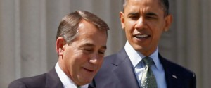 John Boehner having a happy time with his pal Barack Obama