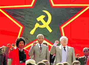 Soviet Union and labor unions backed Mandela and his wife Winnie