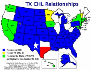 Map of States Where We Have Reciprocity