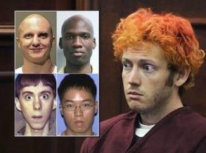 Mass Murderers: Jared Loughner, Aaron Alexis, Adam Lanza, Seung-hui Cho, James Holmes.