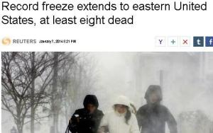 Global Warming Kills by Freezing People to Death