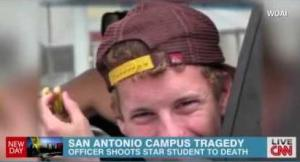 A student nearby said University of the Incarnate Word senior Robert Cameron Redus sarcastically asked 'oh, you gonna shoot me' during an altercation with Cpl. Chris Carter before the officer shot him.