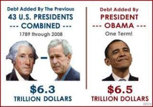 Get off blaming Bush - Sir Spend-a-Lot has outspent them all from the first George to the last