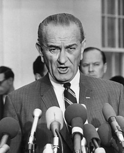 """It is important that the United States remain a two-party system. I'm a fellow who likes small parties and the Republican Party can't be too small to suit me.""  Hypocrisy of Lyndon B. Johnson"
