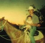 Zeke on horseback