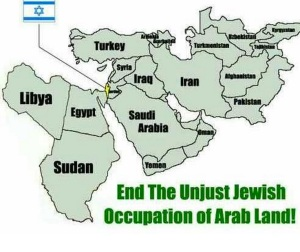 map of middle east - no palestine