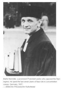 German Pastor Martin Niemöller