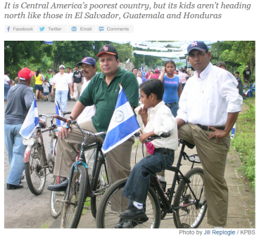 Why are Nicaraguans not migrating north?