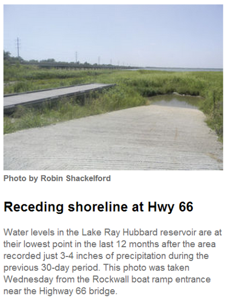 receding shoreline at 66 ramp