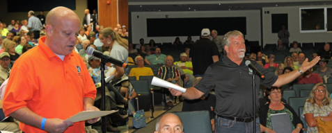 Mayor David Sweet (L) and Mayor Pro Tem Jim Pruitt (R) - City of  Rockwall Council Unanimously Opposes A Toll Road
