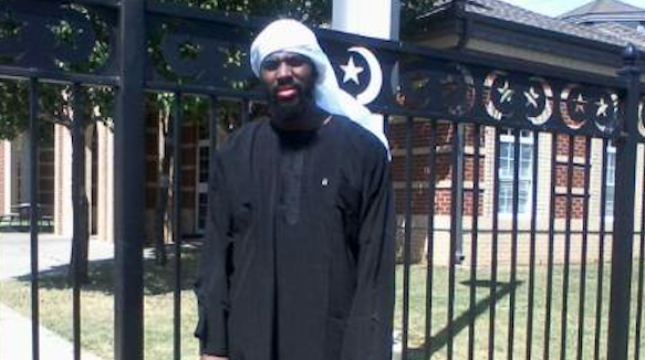 Alton Nolen's self portrait September 5th, just three weeks before he brutally murdered an innocent woman, standing in front of the gates of the Islamic Society of Greater Oklahoma City.