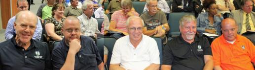 Rockwall Council members (L-R) Dennis Lewis, David White, Bennie Daniels, Jim Pruitt & David Sweet