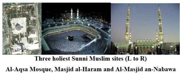 three holiest sunni muslim sites