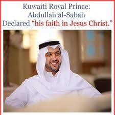 kuwaiti prince becomes Christian