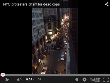 click on image above to view and hear protesters call for death of cops
