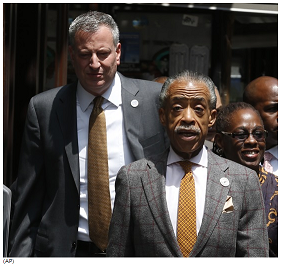 Mayor Bill de Blasio and Al Sharpton were quick to blame NYPD officers
