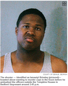Cowardly and irresponsible Ismaaiyl Brinsley shot his girlfriend before murdering two NY Policemen