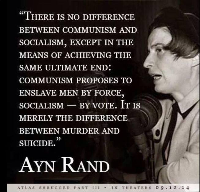ayn rand - no difference