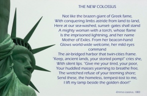 statue of liberty emma lazarus poem