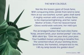 statue of liberty emma lazarus poem