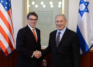 Former Texas Governor Rick Perry supports Benjamin Netanyahu