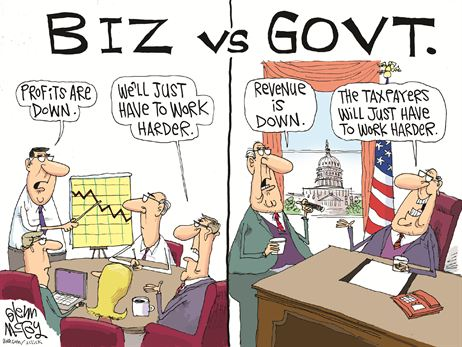 biz v govt cartoon