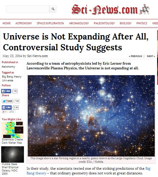 universe not expanding