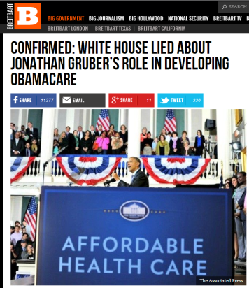 breitbart-obama lied about grubers role in developing obamacare