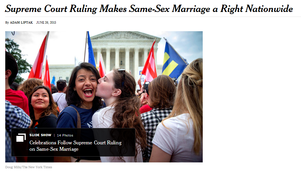 supreme court rules for gay marriage