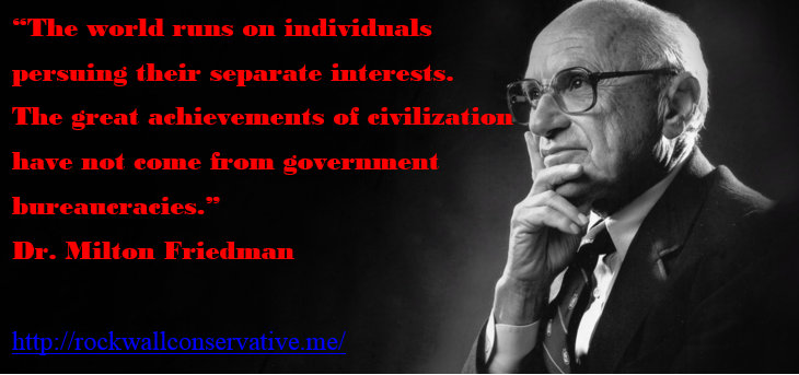 milton friedman - world runs on individuals persuing their separate interests