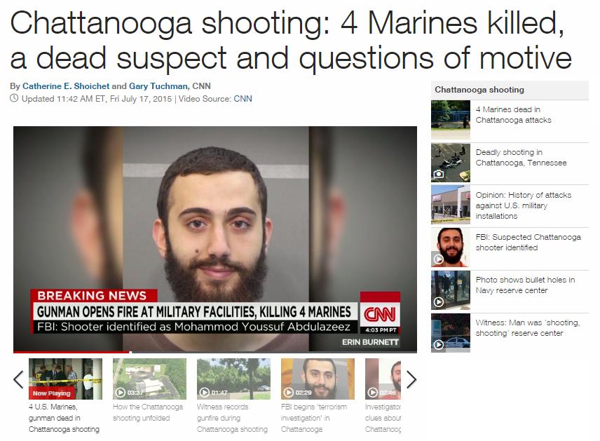 On Thursday, July 16, Kuwaiti immigrant murders four U.S. Marines to celebrate Ramadan
