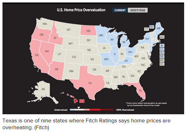 US Home Price Overvaluations