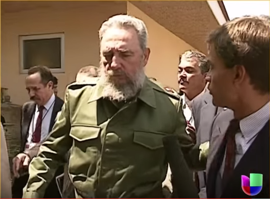 Fidel Castro (left) Jorge Ramos (right) 1991 Summit