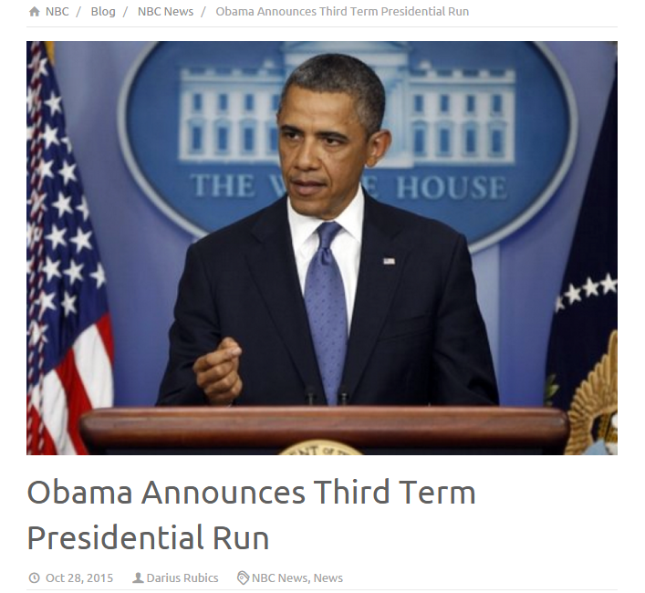 Link to story from NBC News: http://nbc.com.co/obama-announces-third-term-presidential-run/