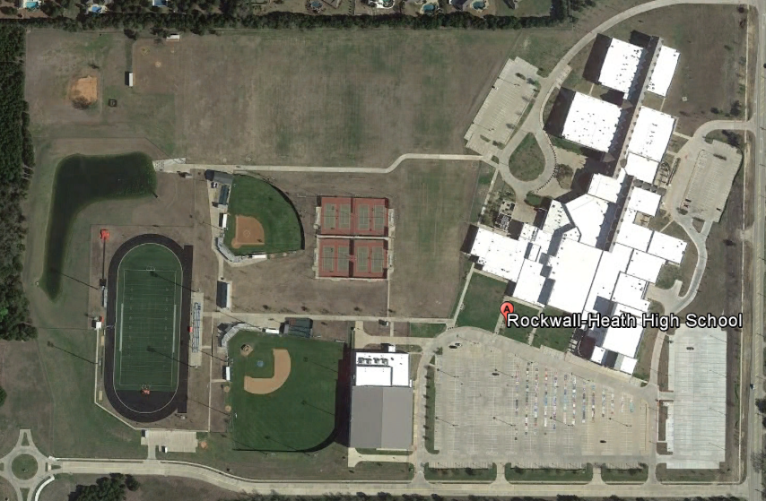 Rockwall-Heath High School (north up)
