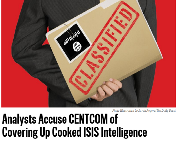 The Daily Beast: Allegations are mounting that senior intelligence officials at Central Command not only skewed findings on the ISIS war to please D.C., but tried to hide what they did.