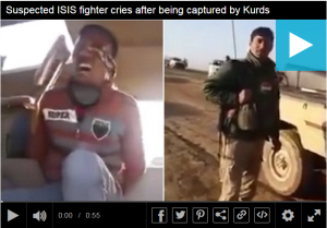 Daily Mail: ISIS fighter cries like a baby after being captured by Kurdish forces http://ow.ly/VggVs