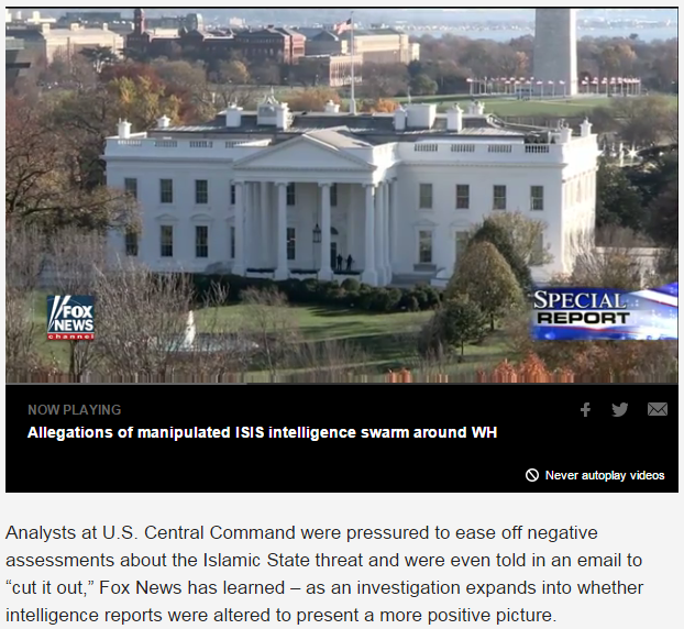 Fox News: Emails show DOD analysts told to 'cut it out' on ISIS warnings; IG probe expands