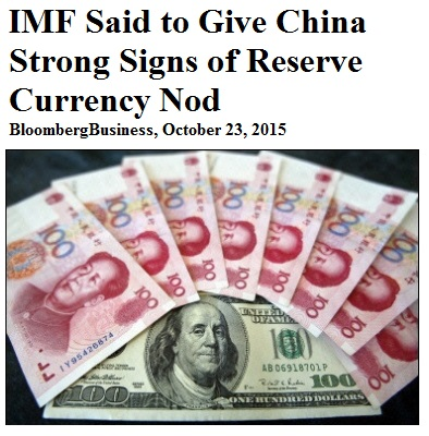 Bloomberg: IMF Said to Give China Strong Signs of Reserve-Currency Nod